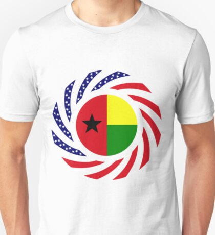 Guinea Bissau American Multinational Patriot Flag Series T-Shirt