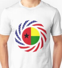 Guinea Bissau American Multinational Patriot Flag Series Slim Fit T-Shirt