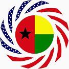 Guinea Bissau American Multinational Patriot Flag Series by Carbon-Fibre Media