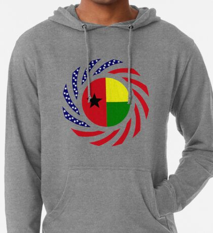 Guinea Bissau American Multinational Patriot Flag Series Lightweight Hoodie