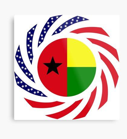 Guinea Bissau American Multinational Patriot Flag Series Metal Print