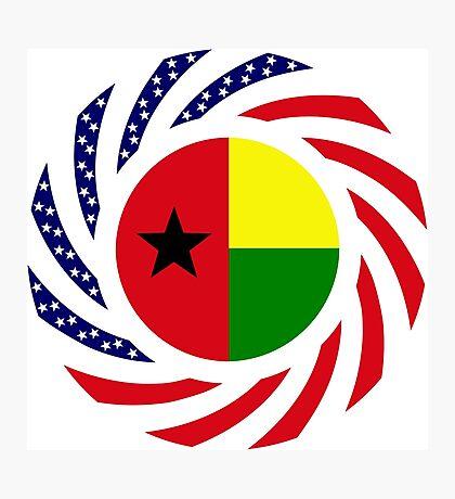 Guinea Bissau American Multinational Patriot Flag Series Photographic Print