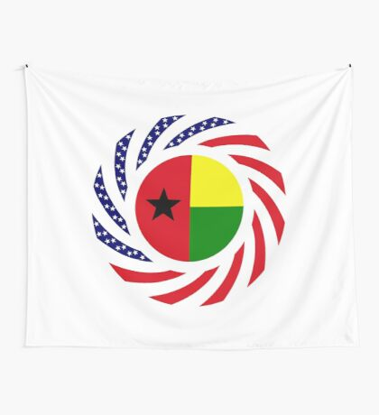 Guinea Bissau American Multinational Patriot Flag Series Wall Tapestry