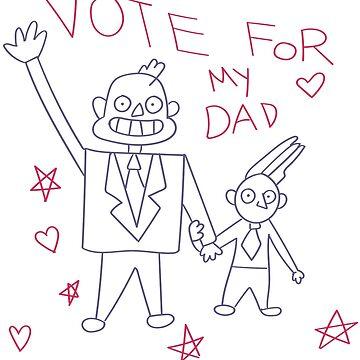 Steven Universe - Vote For My Dad by missarrowette
