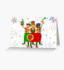 Portugal Football Fans Greeting Card