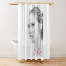 Classic portrait by Blunder for Vinylone Shower Curtain