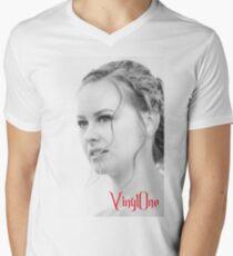 Classic portrait by Blunder for Vinylone V-Neck T-Shirt