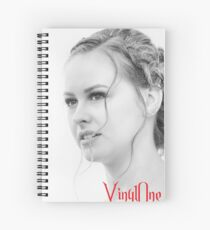 Classic portrait by Blunder for Vinylone Spiral Notebook