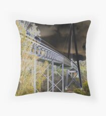 Batman Bridge Throw Pillow