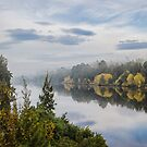 Misty Autumn Morning by yolanda