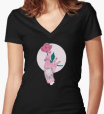 Grow Fitted V-Neck T-Shirt