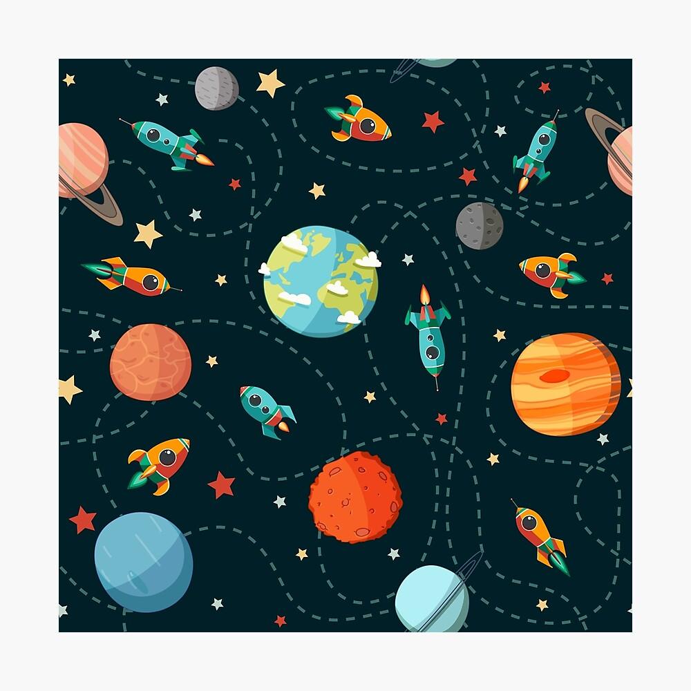 Weltraumabenteuer Fotodruck