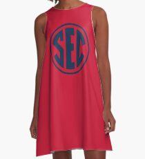Ole Miss Rebels SEC Logo A-Line Dress