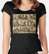 Tarot cards pattern Women's Fitted Scoop T-Shirt