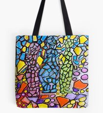 Stained Glass Statues Tote Bag