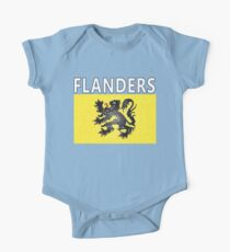 Flanders Flag Lion in Artistic Detail One Piece - Short Sleeve