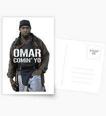 Omar Comin' Yo Postcards