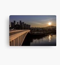 Conwy at sunset Canvas Print
