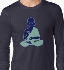 buddha blue boudha blue Long Sleeve T-Shirt