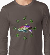 Link's Awakening - 8-Bit Wind Fish & Instruments of the Sirens Long Sleeve T-Shirt