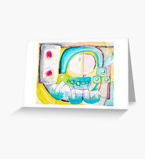 Turquoise Abstract Greeting Card