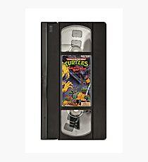 Retro Ninja Turtles Video Photographic Print