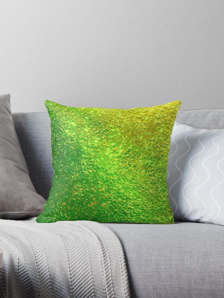 Helles glänzendes schönes elegantes Gold und grünes Girly Funkeln-Muster von Quaintrelle