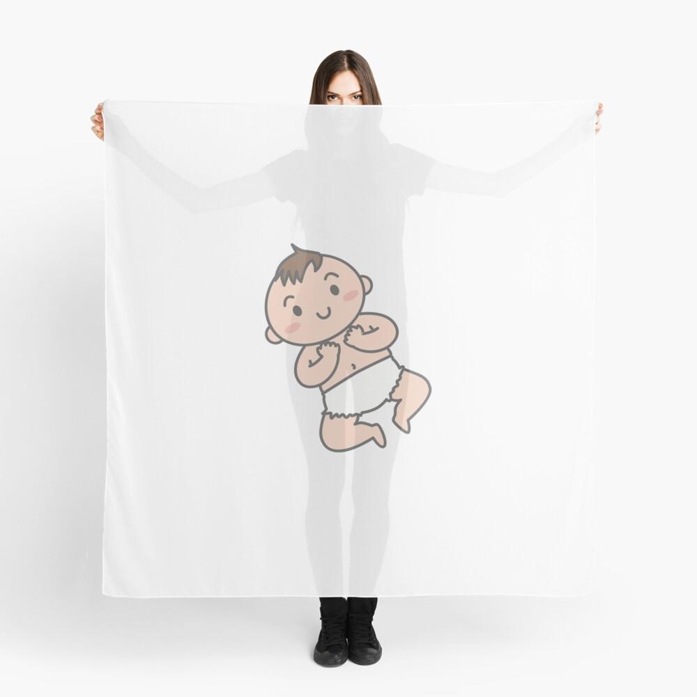 Glückliches Baby Tuch