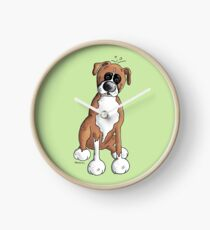 Deutscher Boxer - Dog - Dogs - Comic - Cartoon - Breed - German Boxer Clock
