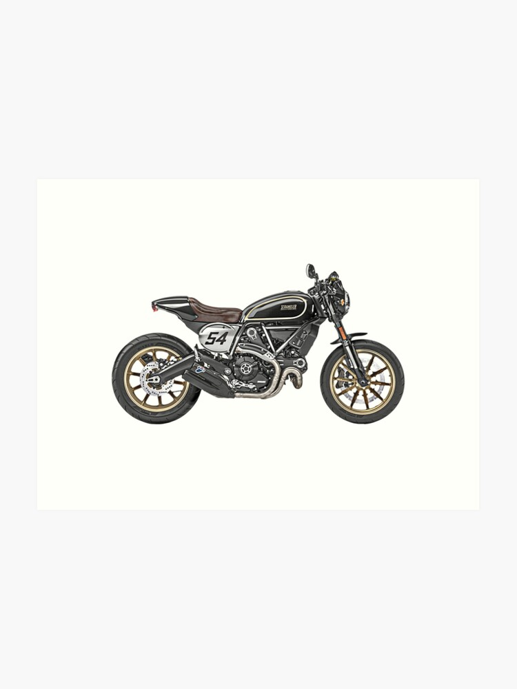 Ducati Scrambler Sticker Art Print