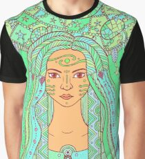 Fairy Girl with Dreamcatcher Graphic T-Shirt