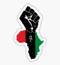 Black fist Africa custom Tee Sticker