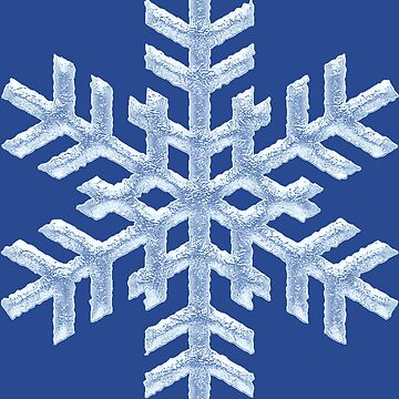 Icy Frozen Christmas Snowflake on Deep Blue by 26-Characters