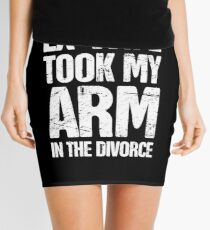 Funny Gift For Amputated Arm Amputee Present Mini Skirt