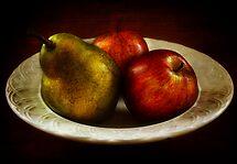 An odd pear by Karen Scrimes
