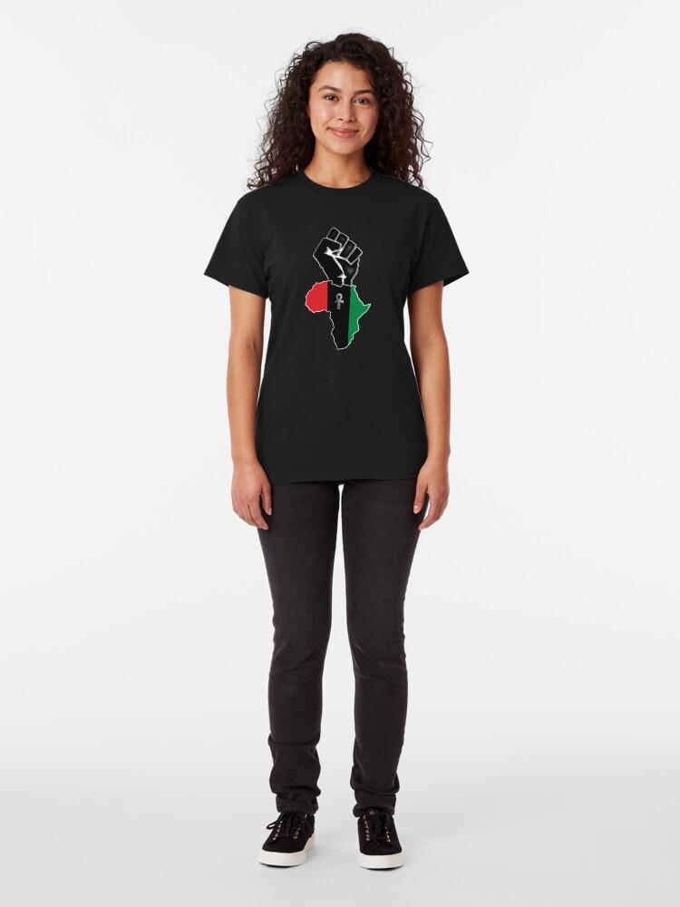 Alternate view of Black fist Africa custom Tee Classic T-Shirt