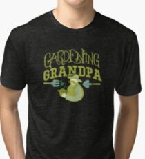 Gardening Grandpa Horticulture Hobby Apparel and Gifts Tri-blend T-Shirt