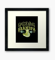 Gardening Grandpa Horticulture Hobby Apparel and Gifts Framed Print