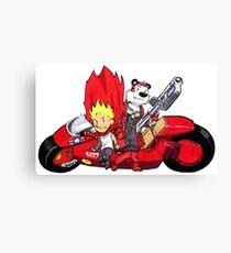 Calvin and Hobbes Akira Anime Canvas Print