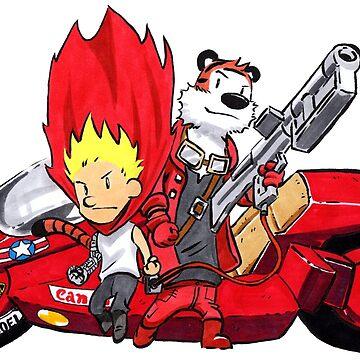 Calvin and Hobbes Akira Anime by Sketchbooks