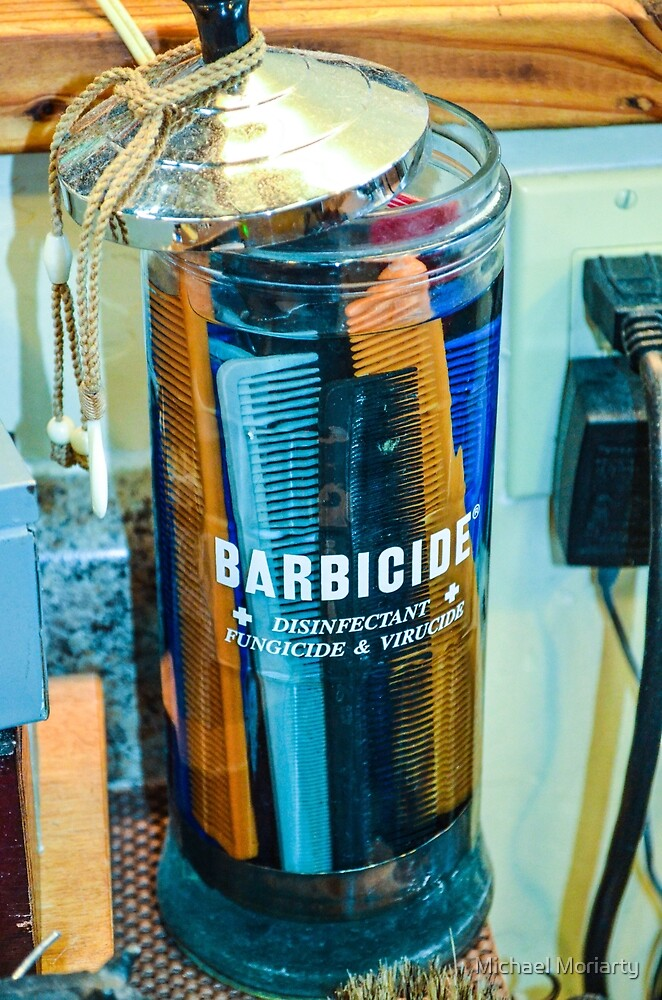 Barbershop Combs in Barbicide Jar by Michael Moriarty