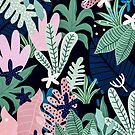 Into the Jungle - midnight by Gale Switzer