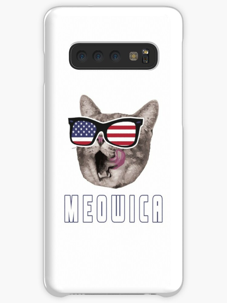 1baef7c302 Meowica USA American Flag Cat T-Shirt Funny 4th Of July Gift Fourth Of July Independence  Day Cat Shirt