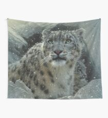 "Snow Leopard ""Fortress"" Wall Tapestry"