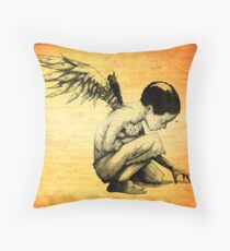 Blood Of Angels Throw Pillow