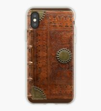 Ancient leather & brass book cover, Nuremberg 1477 iPhone Case