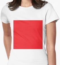 Red Color - Red one colour Women's Fitted T-Shirt