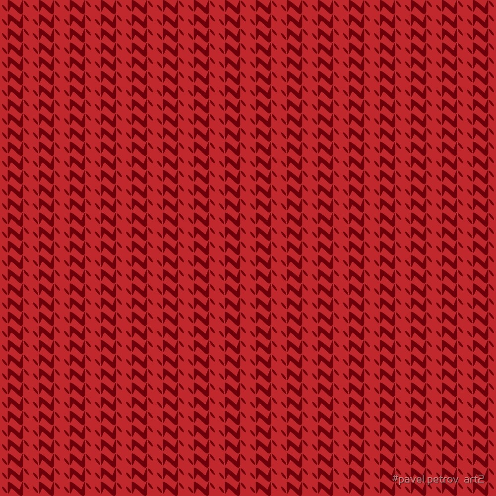 Red knitted pattern.  by #pavel petrov  art2