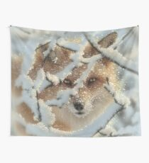 "Red Fox ""Hide and Seek"" Wall Tapestry"