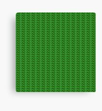 Green knitted pattern.  Canvas Print